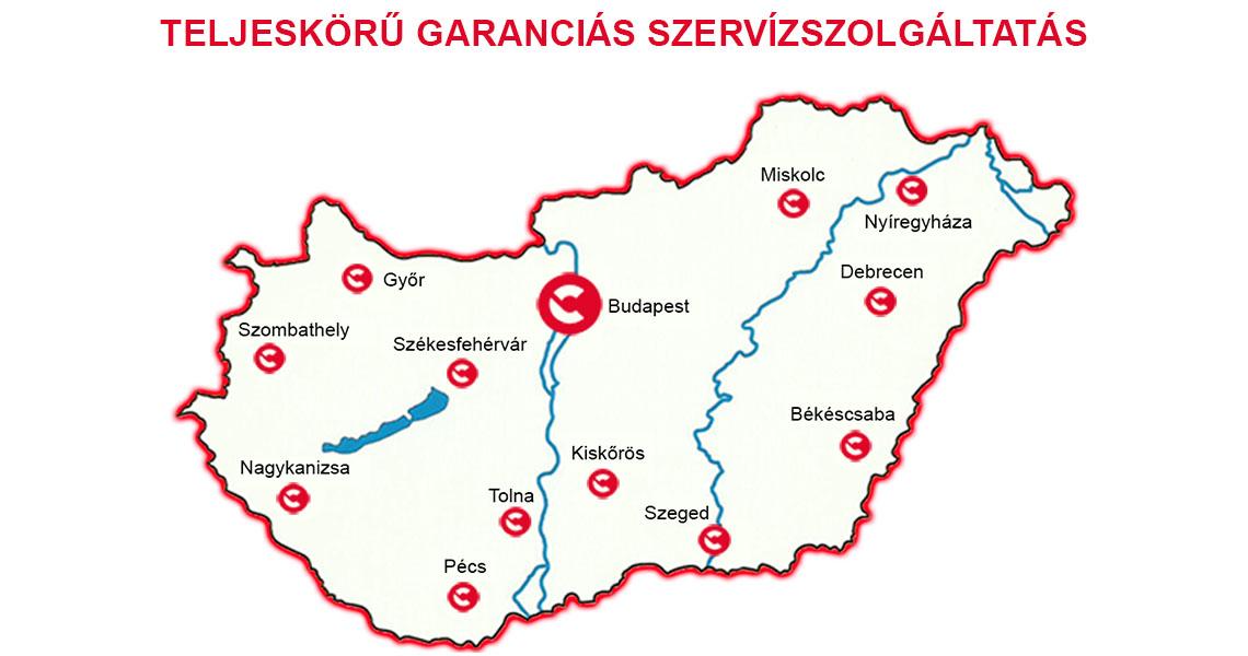 Comac szeríz térkép
